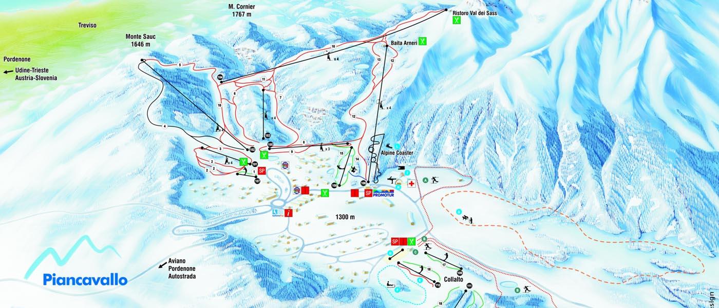 Ski mapa Piancavallo
